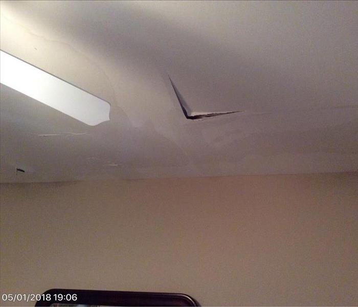 Water Damaged Ceiling in Wood River Valley